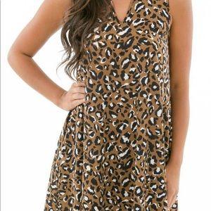 Karlie Leopard Choker Dress